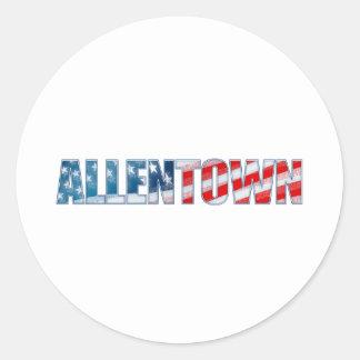 Allentown Classic Round Sticker