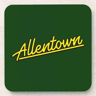 Allentown en amarillo posavaso