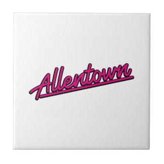 Allentown en magenta teja cerámica