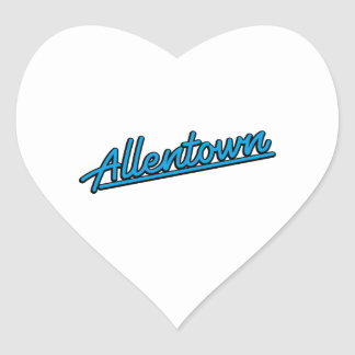 Allentown in cyan heart sticker