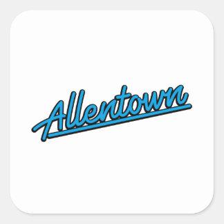 Allentown in cyan square sticker