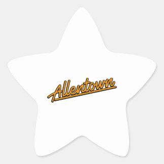 Allentown in orange star sticker