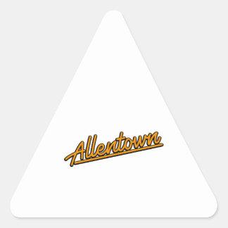 Allentown in orange triangle sticker