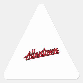 Allentown in red triangle sticker