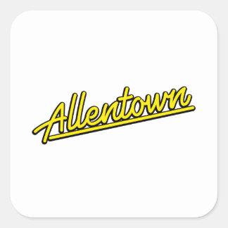 Allentown in yellow square sticker