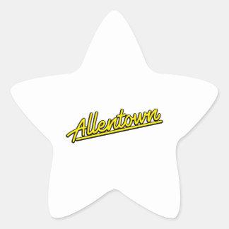 Allentown in yellow star sticker