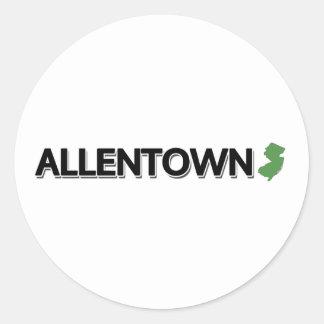 Allentown, New Jersey Classic Round Sticker