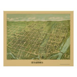 Allentown, PA Panoramic Map - 1879 Poster