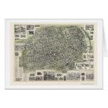 Allentown, PA Panoramic Map - 1901 Greeting Card