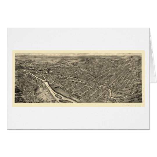 Allentown, PA Panoramic Map - 1922 Card