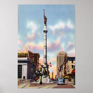 Allentown Pennsylvania Center Square Poster