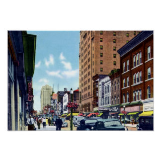 Allentown Pennsylvania Hamilton Street Poster
