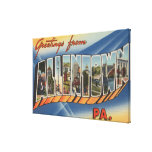 Allentown, Pennsylvania - Large Letter Scenes Gallery Wrapped Canvas