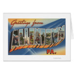 Allentown, Pennsylvania - Large Letter Scenes Greeting Card