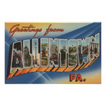 Allentown, Pennsylvania - Large Letter Scenes Print