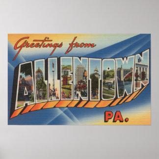 Allentown, Pennsylvania - Large Letter Scenes Poster