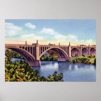 Allentown Pennsylvania Tilghman Street Bridge Poster