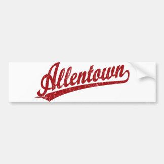 Allentown script logo in red bumper sticker
