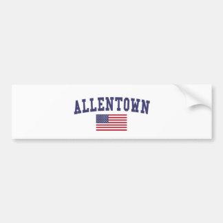 Allentown US Flag Bumper Sticker