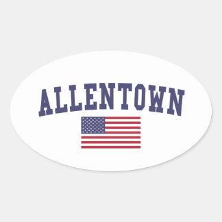 Allentown US Flag Oval Sticker