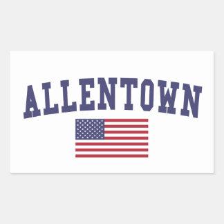 Allentown US Flag Rectangular Sticker