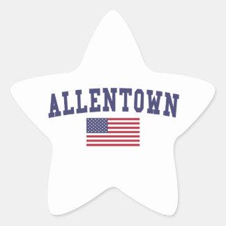 Allentown US Flag Star Sticker
