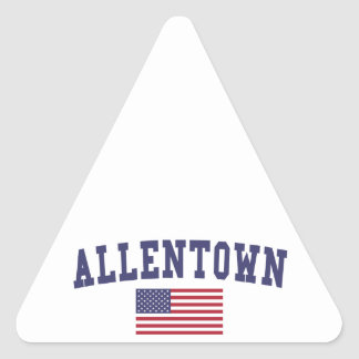 Allentown US Flag Triangle Sticker