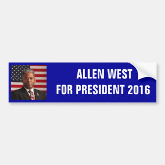AllenWest_flag.jpeg, PRESIDENTE 2 de ALLEN WESTFOR Pegatina Para Auto
