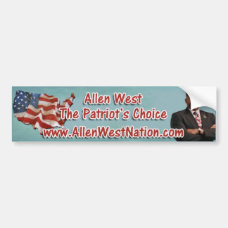 AllenWestNation.com Bumper Sticker
