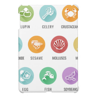 Allergen Food Allergy Icons iPad Mini Cover