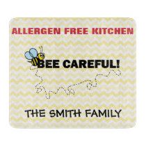 Allergen Free Cutting Board Bee Careful!