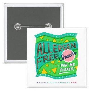 """Allergen-Free Snacks For Me, Please"" Button"