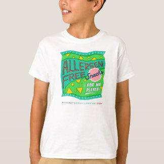 """Allergen Free Snacks For Me, Please"" T-Shirt"