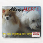 allerggic to pets sign mouse pads