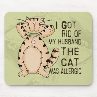 Allergic Cat Mouse Pad