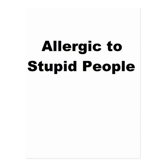 Allergic Postcard