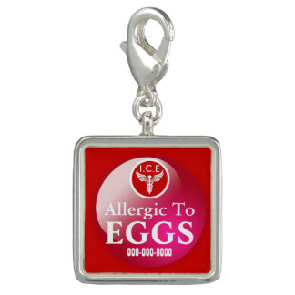 Allergic to Eggs square #01   Personalize Photo Charms