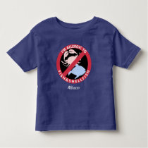 Allergic To Fish Shellfish Allergy Personalized Toddler T-shirt
