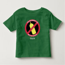 Allergic To Mustard Kids Allergy Personalized Toddler T-shirt