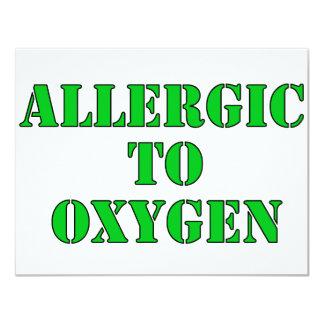 Allergic To Oxygen Card