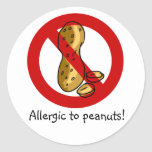 Allergic to peanuts stickers!