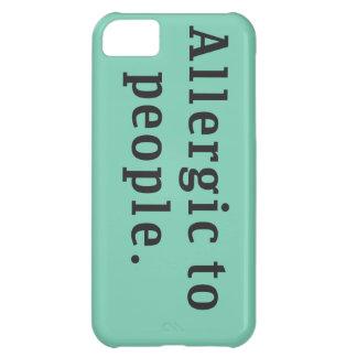 """Allergic to people"" iPhone 5C Case"