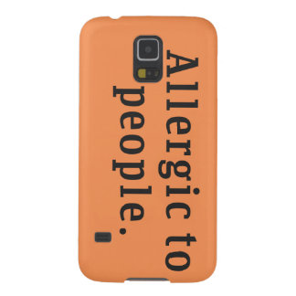 """Allergic to people"" Samsung Galaxy S5 Case"