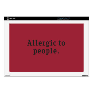 """""""Allergic to people"""" Decals For Laptops"""