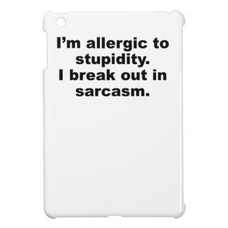 Allergic To Stupidity iPad Mini Cover