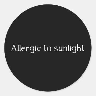 Allergic to Sunlight Classic Round Sticker