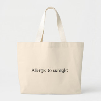 Allergic to Sunlight Large Tote Bag