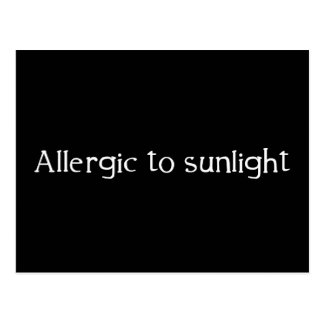 Allergic to Sunlight Postcard