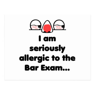 Allergic to the Bar Exam Postcard