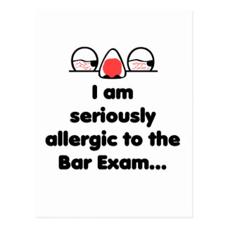 Allergic to the Bar Exam Postcard